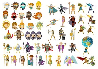 greek roman mythology gods, heroes and creatures collection