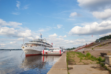 Mooring for passenger motor ships in Nizhny Novgorod