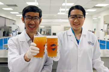 NUS researchers showcase gut friendly probiotic sour beer in Singapore