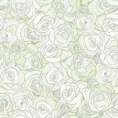 roses seamless vector pattern