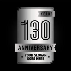 130 years anniversary design template. Vector and illustration.