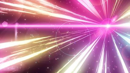 Fototapete - 光線とパーティクルのイメージ