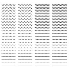 Seamless zigzag and sine wave pattern