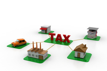 Different tax payment concept