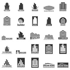 Building logo. Design department. Modern Buildings. Company icons.