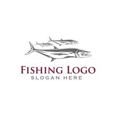 Fishing Logo design illustration  silhouette