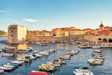 Old Port at Saint John Fort in Dubrovnik