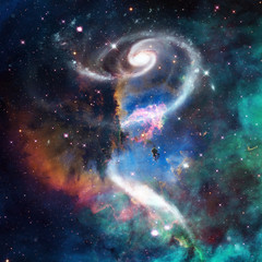 Abstract galaxy in deep space. Astronomy background. Elements of this image furnished by NASA.