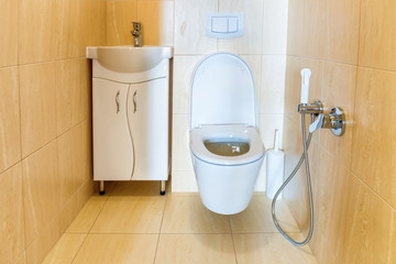 Toilet bathroom interior