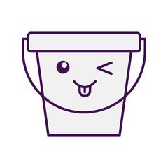 laundry bucket kawaii character