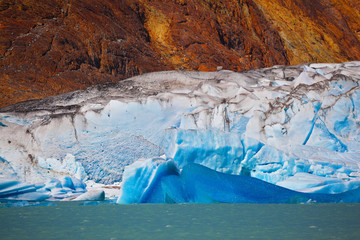 Printed kitchen splashbacks Glaciers Excursion by boat to the glacier