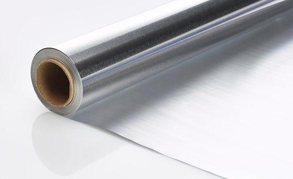 Rolle Aluminiumfolie macro