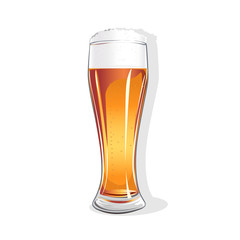 realistic glass with beer