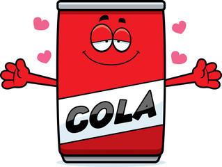 Cartoon Cola Can Hug