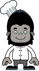 Cartoon Smiling Chef Gorilla