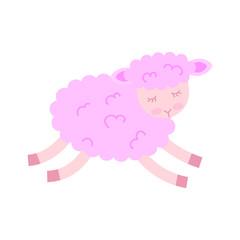 Cute lamb character icon