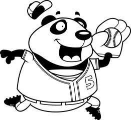 Cartoon Panda Baseball