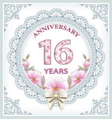 Anniversary 16 years