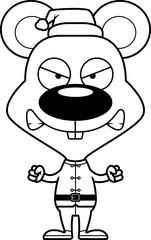 Cartoon Angry Xmas Elf Mouse