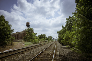 Railroad Tracks in Detroit, Michigan.
