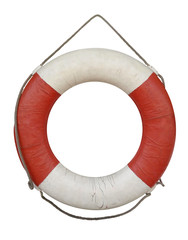 Lifebuoy old isolated on white