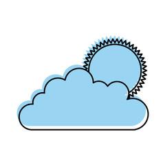 cloud sky with sun