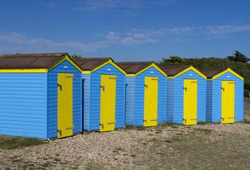 Row of Beach Huts, Littlehampton, England