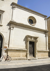 A church in Lecce, Puglia region, Italy