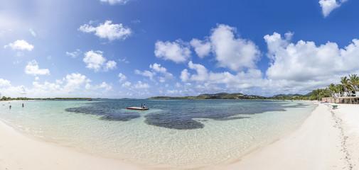 Beautiful Caribbean Beaches from Saint Martin, Sint Maarten Caribbean