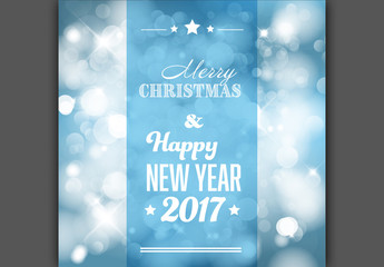 Blue Snowflake Christmas Banner
