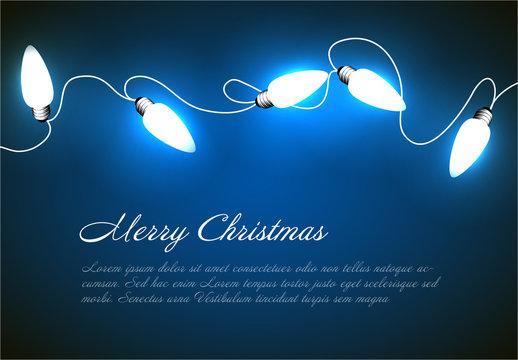 Large Christmas Lights Banner