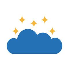 cloud sky with stars