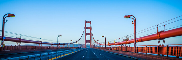 golden gate bridge early morning in san francisco california