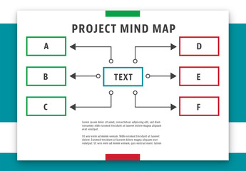 Red and Green Mind Map Layout 1