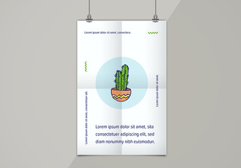 Illustrated Quotation Poster Layout 3