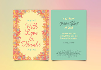 Floral Birthday Card Layout 1