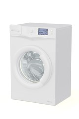 3d illustration of a washing machine on a white background