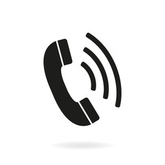 Phone icon. Telephone receiver sign. Vector.