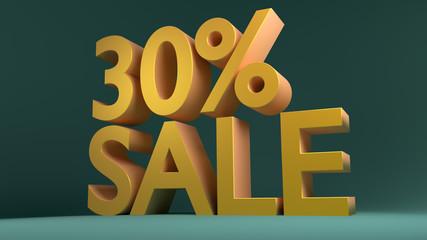 30% Sale, Special Offer (3D Render)