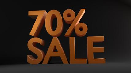 70% Sale, Special Offer (3D Render)