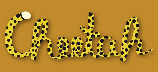 Schriftzug Gepard – Cheetah