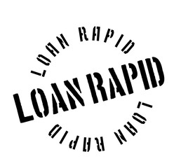 Loan Rapid rubber stamp. Grunge design with dust scratches. Effects can be easily removed for a clean, crisp look. Color is easily changed.