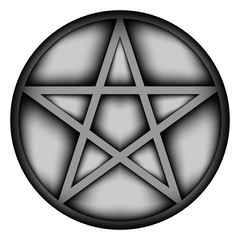 Pentagram icon sign.