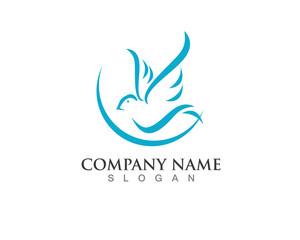 Blue Dove Bird Logo icon
