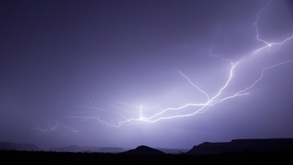 Anvil lightning above Warner Valley in Hurricane Utah