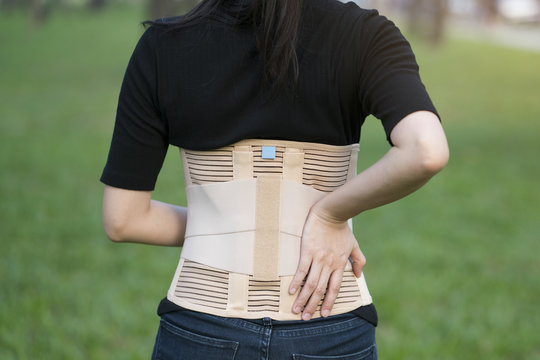 close-up back support for muscle back