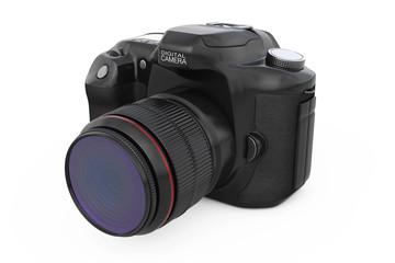 Modern Digital Photo Camera. 3d Rendering
