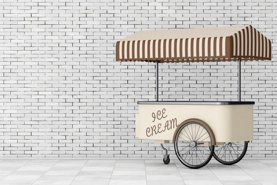 Ice Cream Trolley Cart. 3d Rendering