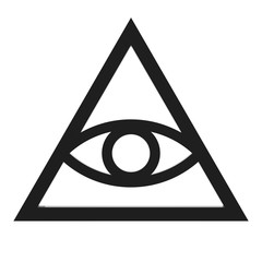 Freemason and Spiritual All Seeing Eye Pyramid Illuminaty Symbol. 3d Rendering
