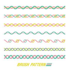 Set of line patterns. vector illustration